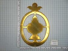 FRIESIAN TAIL CLOCK RARE LARGE BRASS LENTICLE OR TAIL PIECE