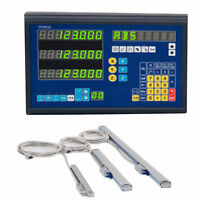 DISPLAY DIGITAL READOUT 3 AXIS DRO & 3 LINEAR SCALES FOR  MILLING LATHE MACHINE