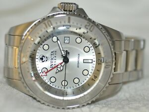 Mens Invicta Reserve Hydromax Swiss Silver Dial Stainless Steel Watch 16958