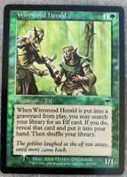 WOTC MtG Onslaught Wirewood Herald Foil NM