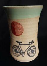 Studio Art Pottery signed Alanna 2014 Hand Turned Vase Salt Glaze