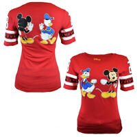 Disney Womens T Shirt Mickey Mouse Donald Duck Top US Tee Cotton S M L XL NEW