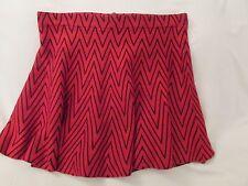 """Ladies """"Candies"""" Jr.XL, Red/Black Chevron Stripe, Trumpet, Short Sweater Skirt"""
