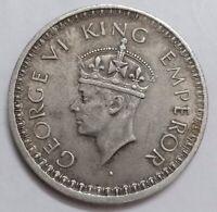 British India 1/2 Rupee 1944 High Grade Silver Lahore Mint LOT#0517