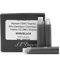 S.T. Dupont Refills Black Fountain Pen Ink Cartridge - 6 Pack - 40110