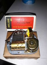 Vintage Reuge Swiss Musical Box Mechanism Movement AULD LANG SYNE new boxed ./