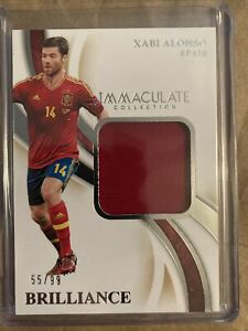 Xabi Alonso Panini Immaculate Soccer 2020 Patch 55/99 Spain