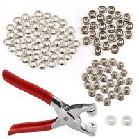 9.5mm Press Studs Snap Popper Fasteners 100pcs Prong Pliers Ring DIY Tool Kit