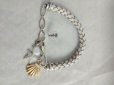 Brighton Sea Dreamer Woven Bracelet Shells Scallop Clam Starfish Coin Pearl NWT