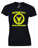 GOTHAM POLICE DEPARTMENT LADIES T SHIRT FUNNY BAT COOL FANCY DRESS MAN DESIGN