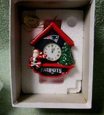 New England Patriots Cuckoo Clock Ornament Danbury Mint 2014