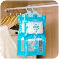 2pcs Hanging Wardrobe Dehumidifier Bags Stop Damp Mould Mildew Moisture Removers