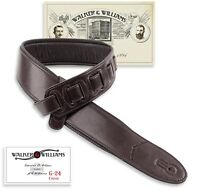 Walker & Williams G-24 Cognac Brown Guitar Strap With Padded Glove Leather Back