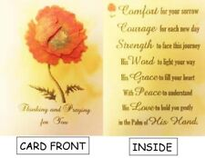 Handcrafted Pop-Up 3D Poppy Flower Sympathy Card