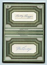 2019 Topps Transcendent Collection Tennis Dual Auto Bobby Riggs & Don Budge 1/1