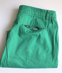 Bonobos Pants / Chinos, 36 x 30, Kelly Green, Straight Fit, Cotton, Exc Cond