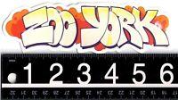 ZOO YORK SKATE STICKER Zoo York Graffiti 6.25 in x 2 in. Vintage Decal