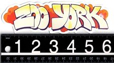 ZOO YORK SKATE STICKER Zoo York Graffiti 6.25 in x 2 in. Vintage Decal