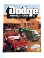 1978 Dodge Kary Van Ram Truck Van Cargo Original Sales Brochure Catalog