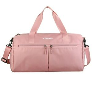 Travel Luggage Gym Bag Nylon Waterproof Sport Fitness Handbag Shoes Compartment