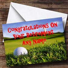 Golf Fan Personalised Retirement Greetings Card