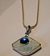 STERLING SILVER NECKLACE WITH CLIP ON CHARM PENDANT