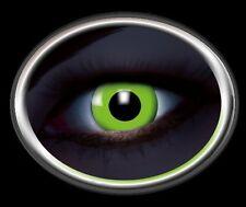 ZOE UV GREEN lentille de couleur lens verte contact halloween glow vampire grün
