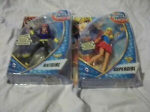 X2 DC SUPER HERO GIRLS.CARDED.BATGIRL & SUPERGIRL