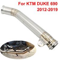 Motorcycle Slip-on Exhaust System Muffler Middle Pipe For KTM DUKE 690 2012-2019
