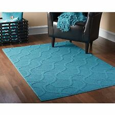 Mainstays Drizzle Area Rug, Teal Home Living Room Family Blue Beautiful