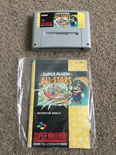 SNES Super Mario Allstars PAL - Cartridge and Instruction Manual (TESTED)