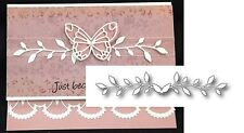 DIANNA BORDER metal die POPPYSTAMPS Dies 1029 Leaves Flourish - Last One