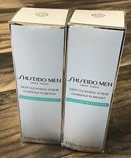 Lot of 2 Shiseido Men Deep Cleansing Scrub 4.5oz/125ml Bottles : BRAND NEW