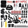 114PCS For GoPro Hero 5 4 3 Accessories Kit Action Camera Mount Accessory Bundle