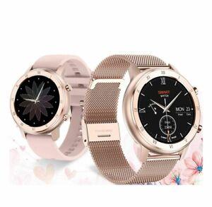 Women Smart Watch ECG Heart Rate Monitoring Blood Pressure Oxygen Waterproof