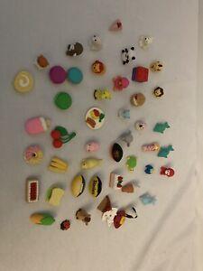 Lot of 46 Erasers - Food, Animals Etc.