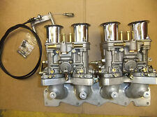 Ford Zetec Blacktop Silvertop inlet manifold with 44 IDF carbs linkage