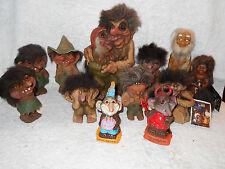 12 1970's NyForm Trolls Norge Berries Indian & Caveman Cyclops Oslo Hillbilly +