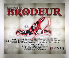 Martin Brodeur autographed signed 20x24 canvas New Jersey Devils Hall of Fame