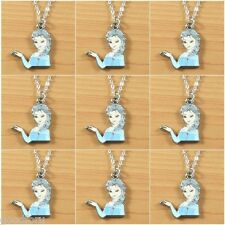 Lot 9pcs Big Sister the Snow Queen Princess Pendant Necklaces Girl Birthday Gift