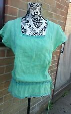 Pretty FAT FACE Tunic/Kaftan, Short Sleeve, Green, Size 14