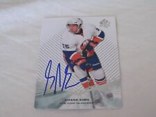 SHANE SIMS AUTOGRAPHED 2011-2012 SP AUTHENTIC ROOKIE CARD