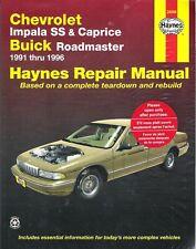 1991-1996 Chevrolet Impala SS Caprice & Buick Roadmaster Haynes Repair Manual 95