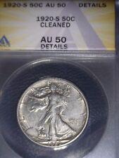 1920-S Walking Liberty Half Dollar, ANACS AU50. Tough Date