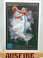 NBA Kemba Walker Charlotte Hornets 2018-19 Panini Impeccable Card #51 10/49