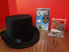 HALLOWEEN TOP HAT, PIRATE EYE PATCH and MILITARY Accessory Pack STEAMPUNK *NEW*