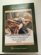 The Great Courses From Monet to Van Gogh: History of Impressionism 4 DVDs + Book