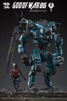 Joytoy Medium-sized Mecha God Of War 86 & Kelly 1:25 PVC&ABS Action Figure