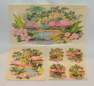 Vintage Pink FLAMINGO Three Sizes of DECALS Liberty Company 6 Decals!