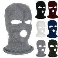 2 / 3 Holes Knitted Ski Balaclava Full Face Mask Neck Warm Motorcycle SAS Style